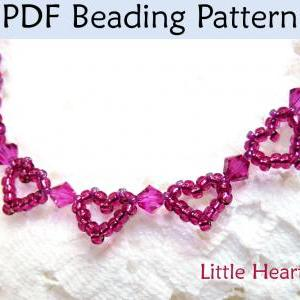beaded heart tutorial pattern
