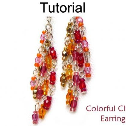 Beading Tutorial Pattern Earrings -..