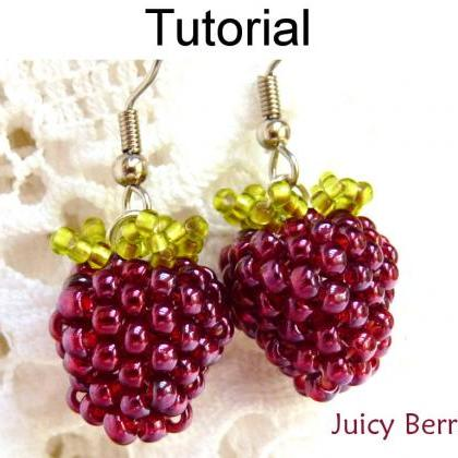 Beading Pattern Tutorial Earrings -..