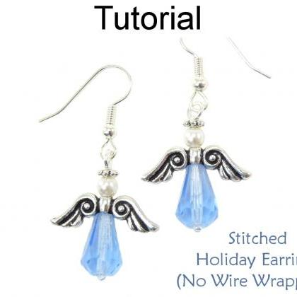 Christmas Earrings Beading Tutorial..
