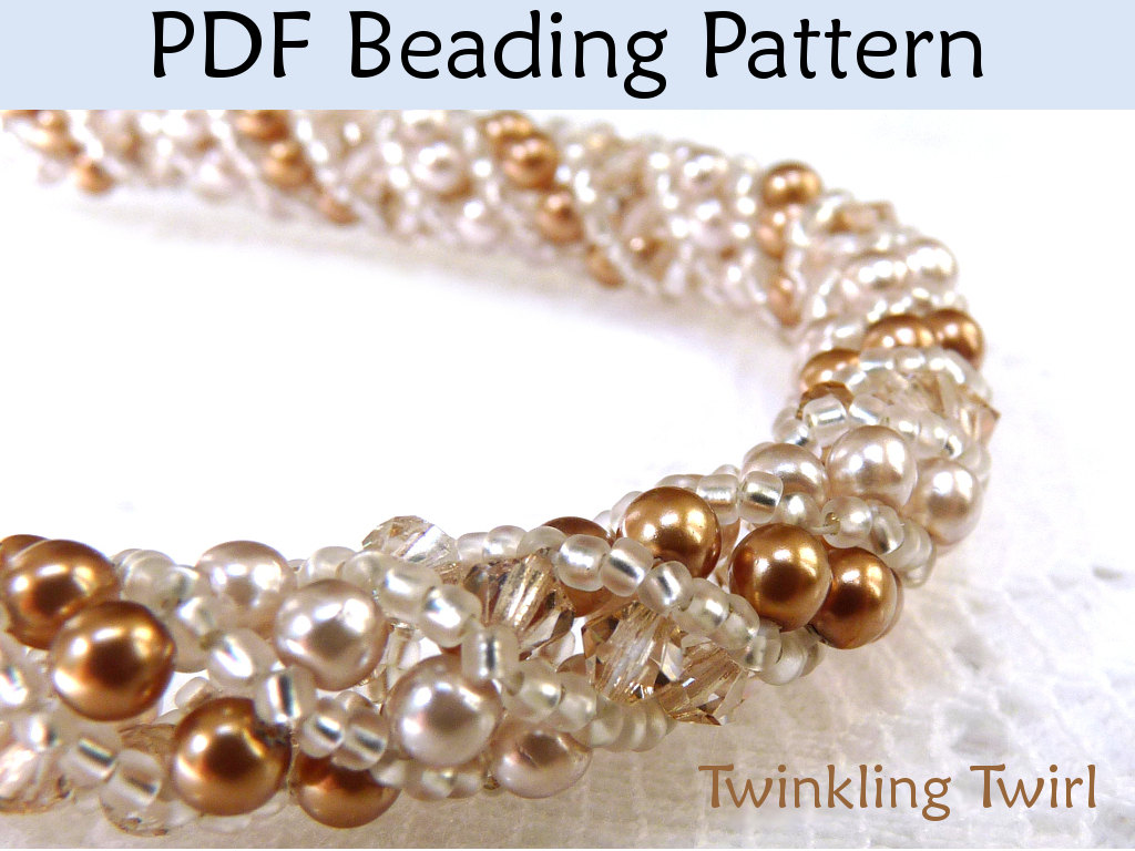 Beading Tutorial Pattern Bracelet Necklace - Russian Spiral Stitch ...