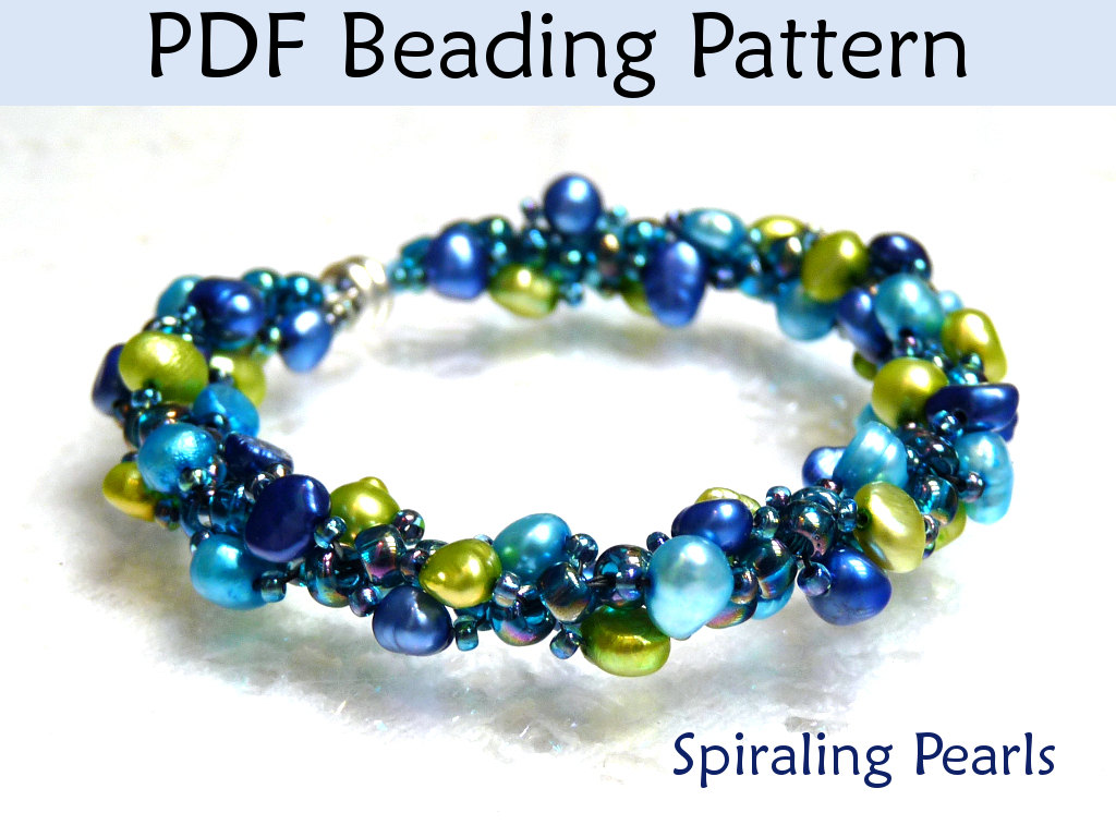 Beading Tutorial Pattern Bracelet Necklace Spiral Sch Simple Bead Patterns Spiraling Pearls 349