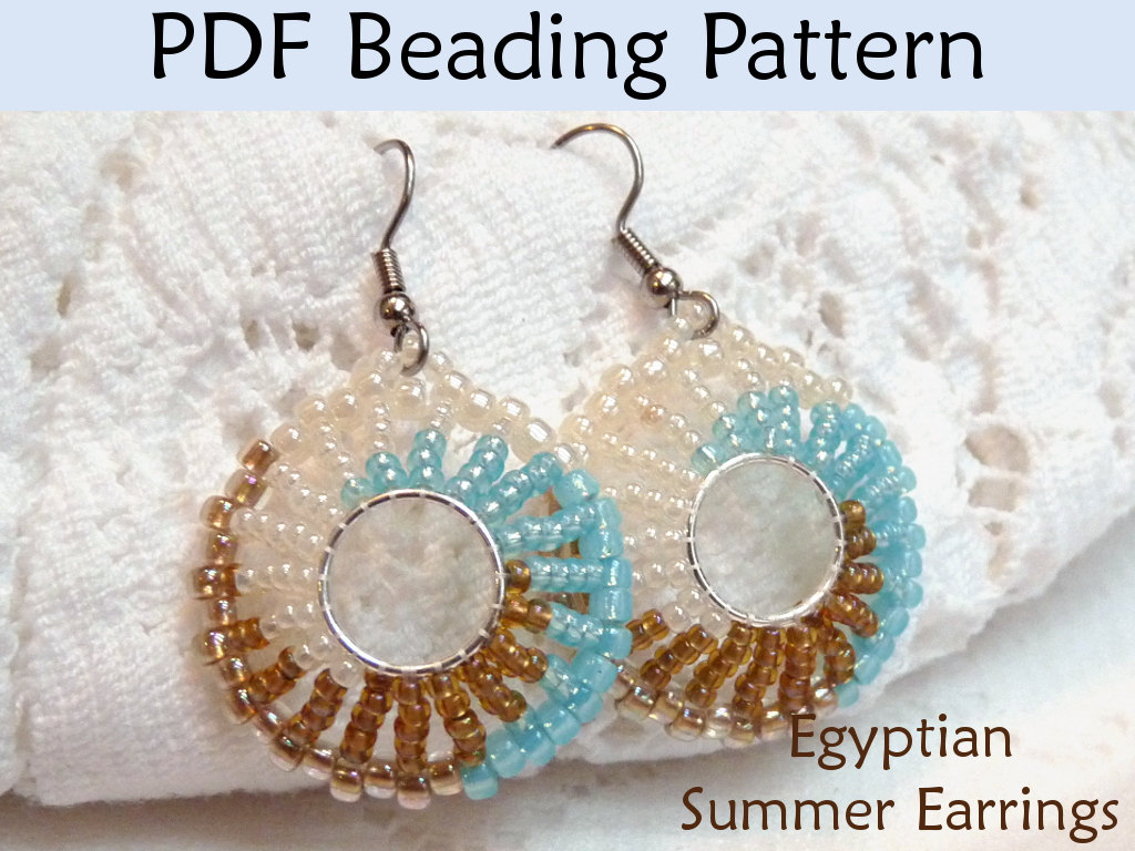 Beading Tutorial Pattern Earrings Jewelry Making Simple Bead Patterns Egyptian Summer