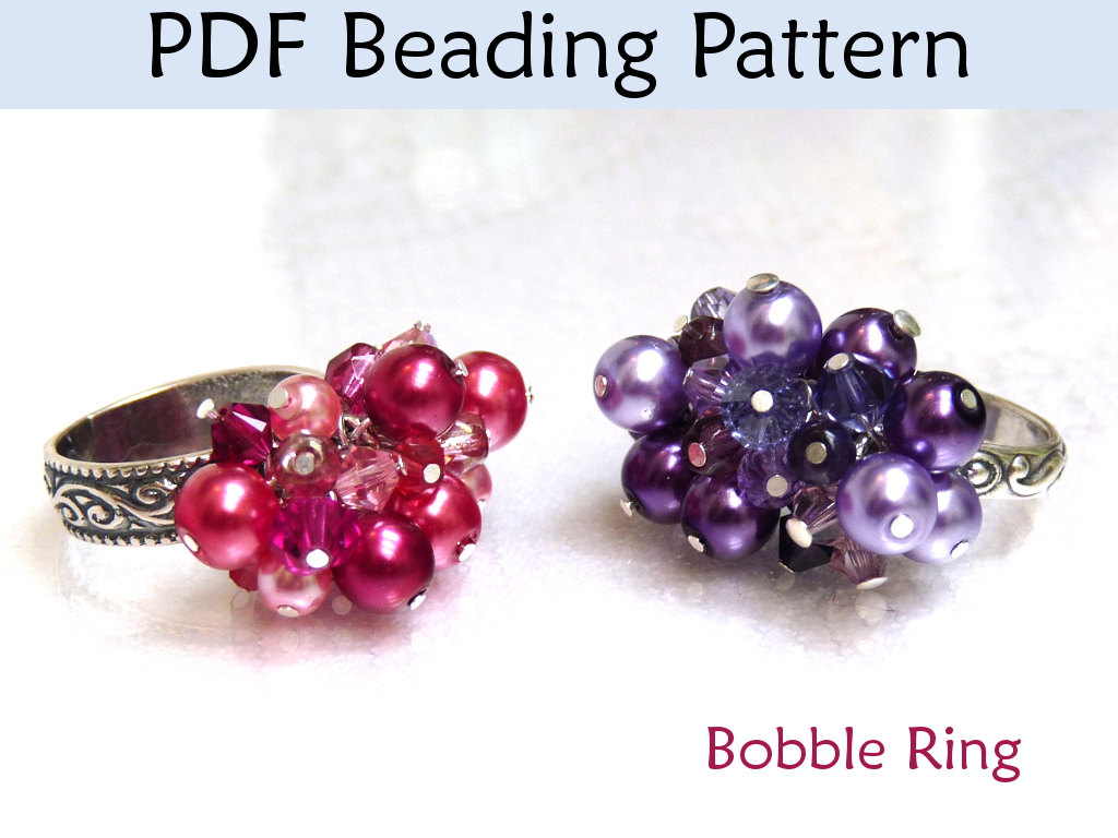 original pattern tutorial in pdf product on star ring luulla rings beading beaded