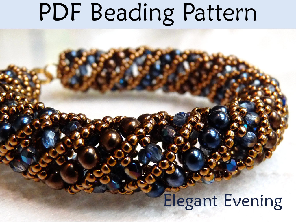 Beading Tutorial Pattern Bracelet Necklace Tubular Netted Sch Simple Bead Patterns Elegant Evening