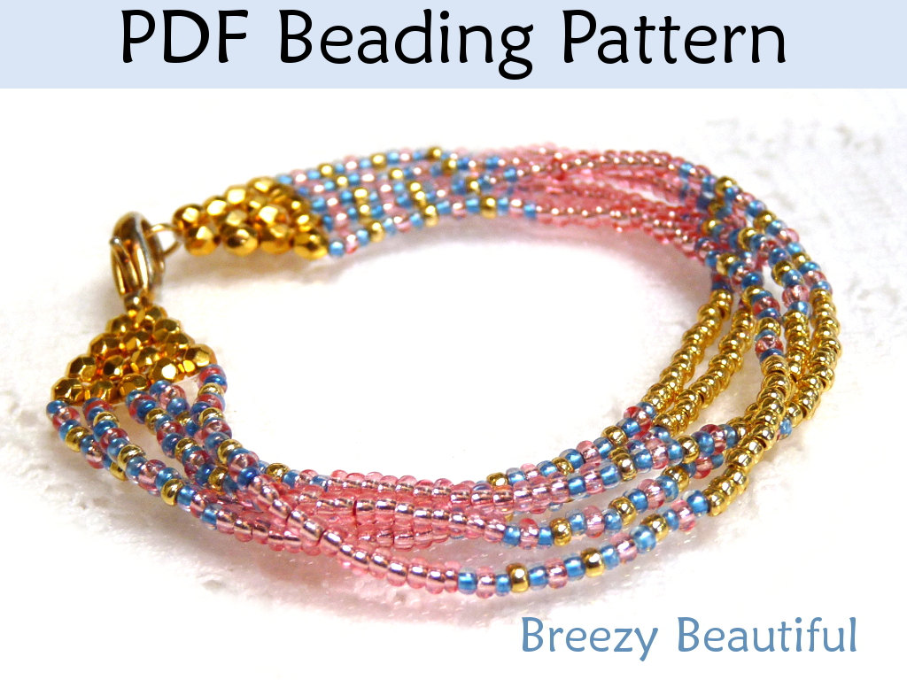 Jewelry Making Beading Tutorial Pattern Multi-Strand Bracelet ...