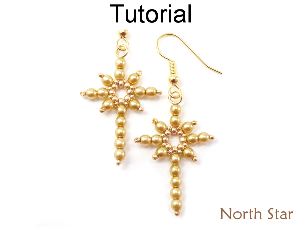 Beading Tutorial Pattern Earrings Pendant - Holiday Christmas Star ...