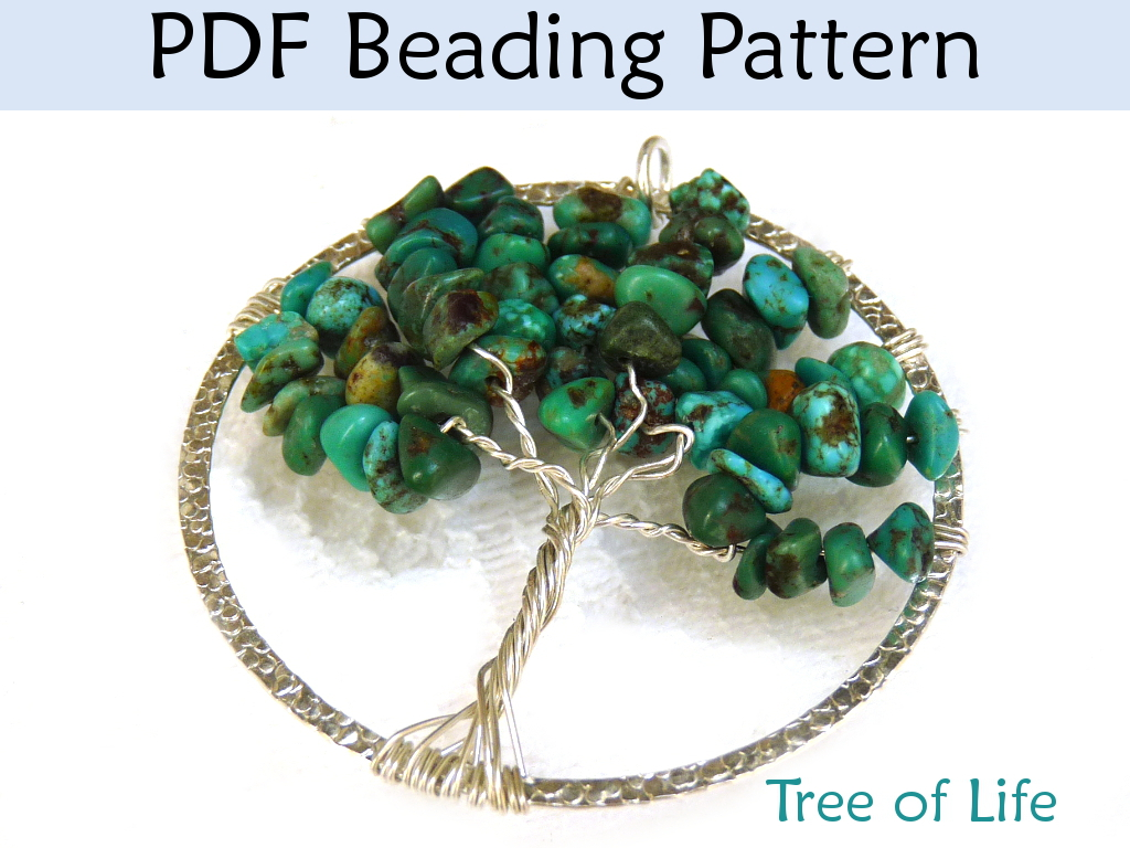 Beading Patterns and Tutorials - Tree of Life - Wire Working - Gemstone Chips - Simple Bead Patterns - Tree of Life #89