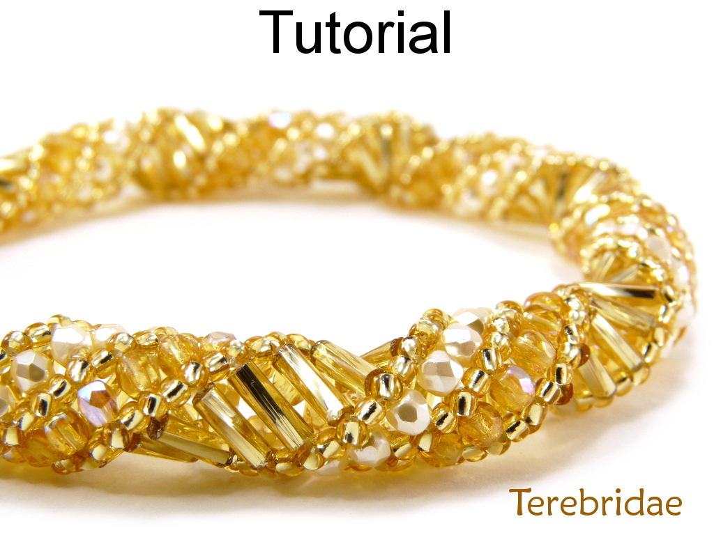Beading Pattern Tutorial Bracelet Necklace - Russian Spiral Stitch - Simple Bead Patterns - Terebridae #1843