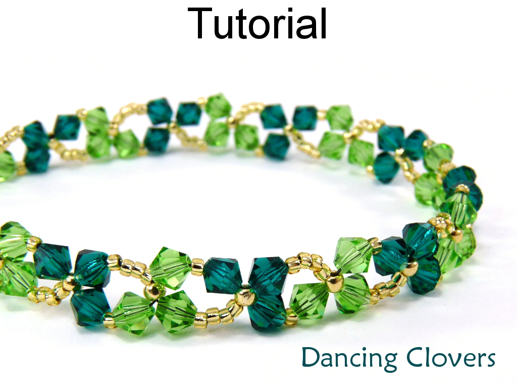 Beading Tutorial Pattern Bracelet Necklace - St. Patrick\'s Day ...