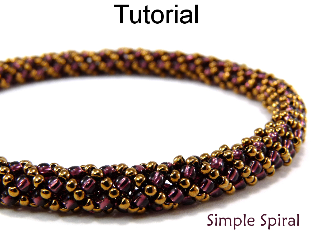 Beading Tutorial Pattern Bracelet Necklace Russian Spiral Sch Simple Bead Patterns 4956