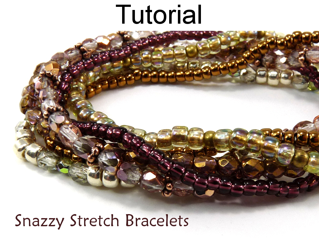 Beading Pattern Tutorial Stretch Bracelets Simple Bead Patterns Snazzy 5002