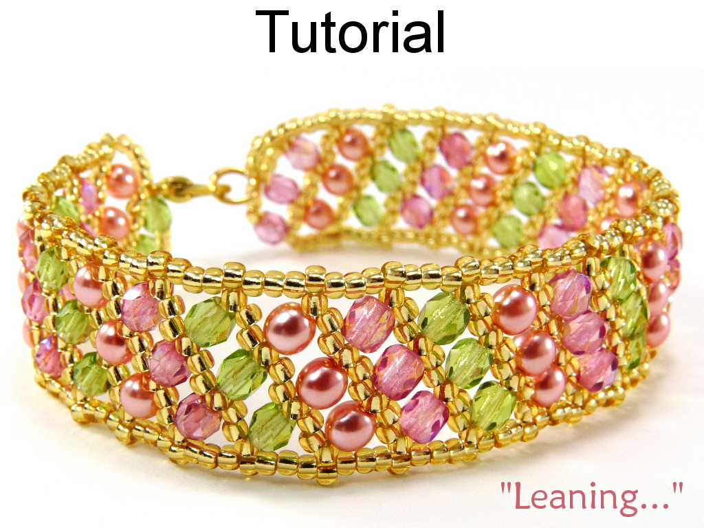 Beading Tutorial Pattern Bracelet - Flat Russian Spiral Stitch - Simple Bead Patterns - Leaning... #5006
