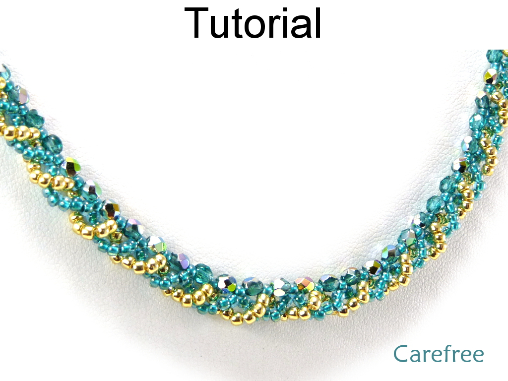 hugerect tutorial crystal snowflake simple patterns pattern beading winter bead pendant holiday necklace jewelry product