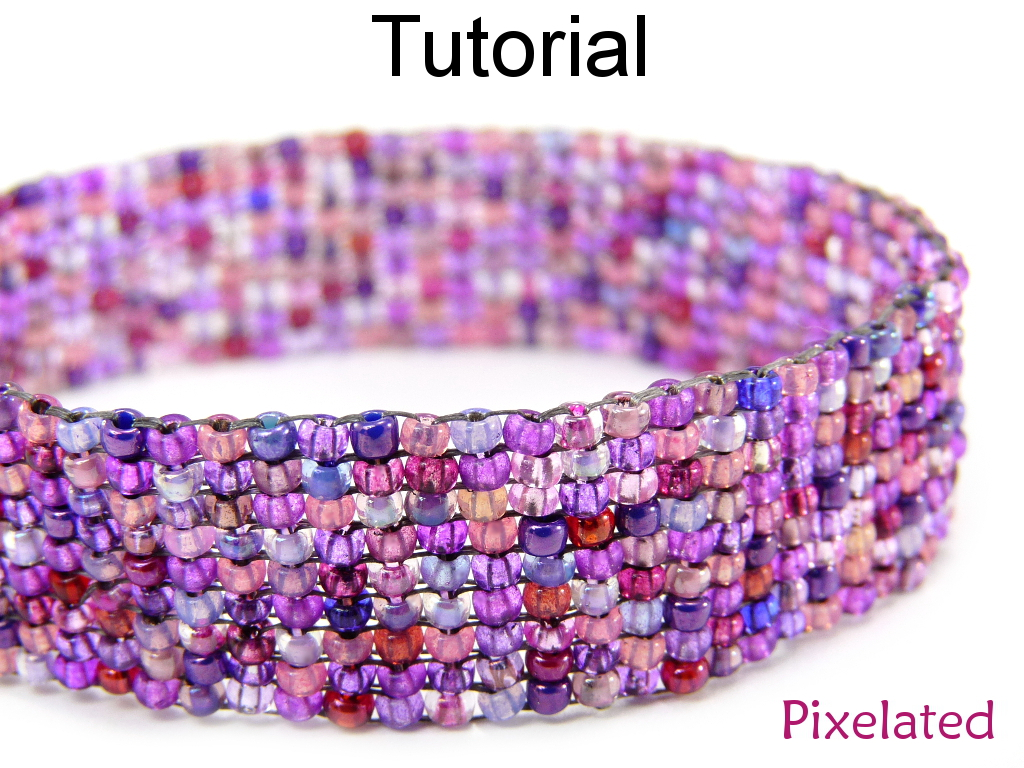 Beading tutorial pattern bracelet square stitch simple bead beading tutorial pattern bracelet square stitch simple bead patterns pixelated 5368 on luulla baditri Images