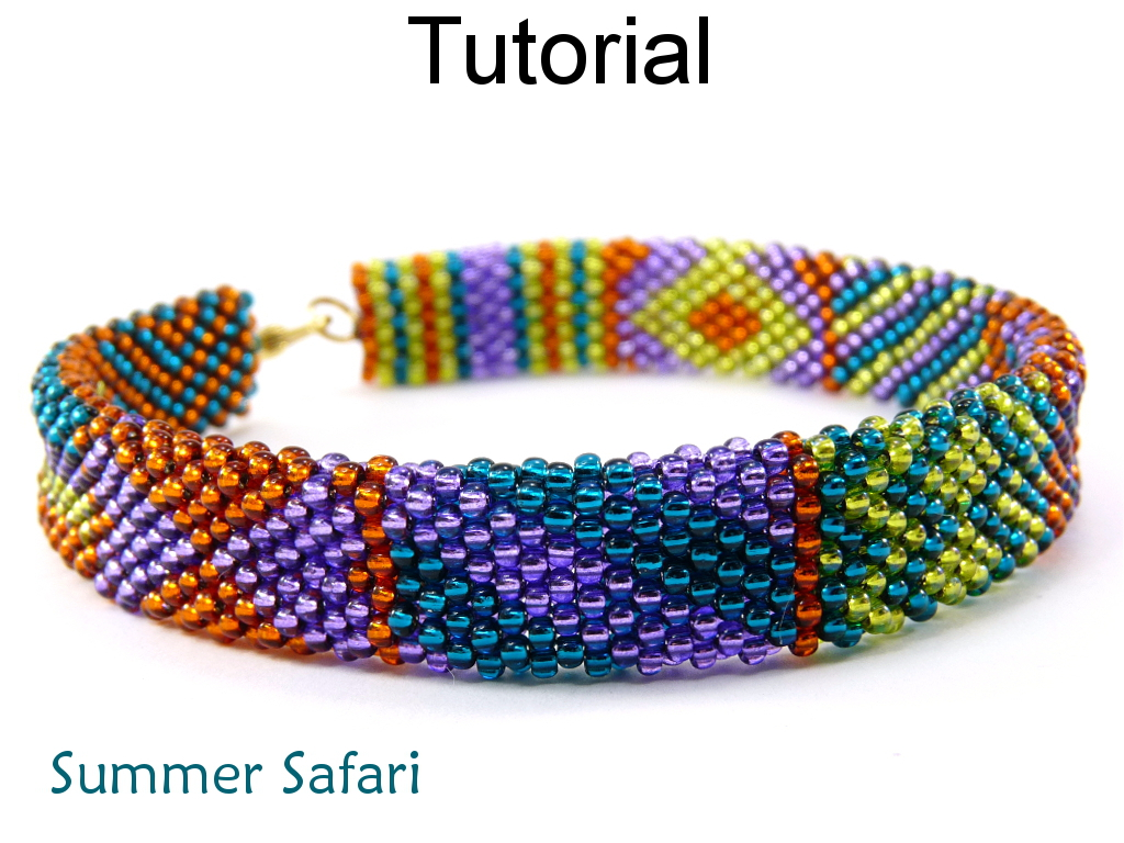 Beading Tutorial Pattern Bracelet Brick Stitch Simple