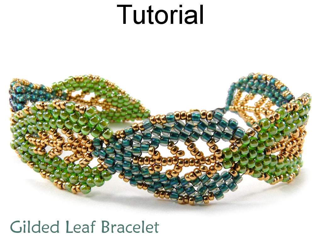 Leaf Bracelet Jewelry Making Tutorial Beading Pattern Russian ...