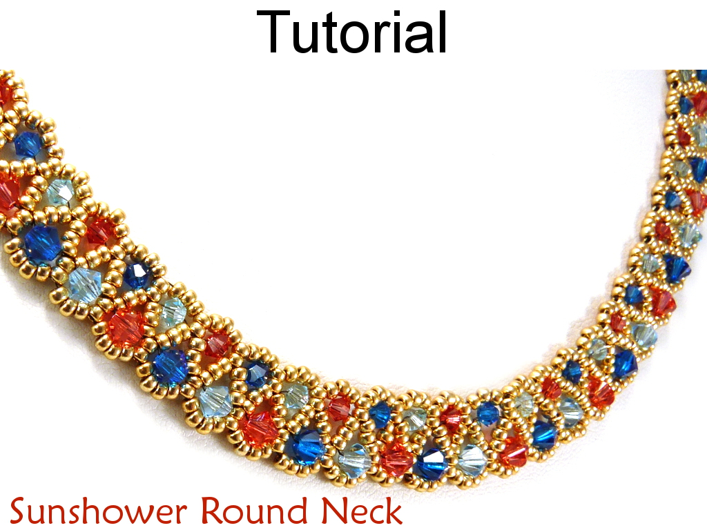Beading Tutorial Pattern Necklace - Crystal Beadweaving Jewelry ...