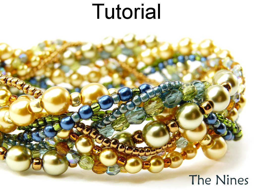 Beading Tutorial Bracelet - Braided Multi-Strand Jewelry Making Instructions - Simple Bead Patterns - The Nines #1500