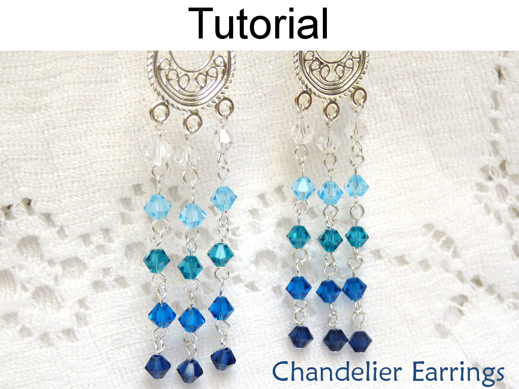 Beading Tutorial Pattern Earrings - Wire Working Chain Jewelry ...