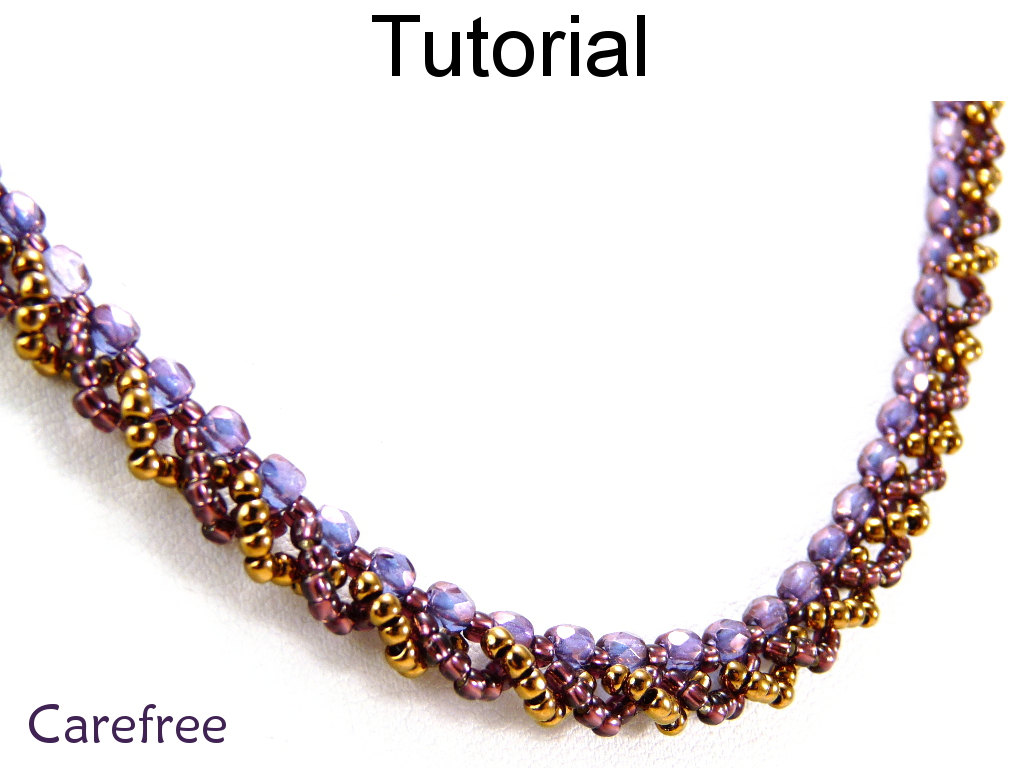 Jewelry Making Tutorial Pattern Necklace - Simple Bead Patterns - Carefree #5110