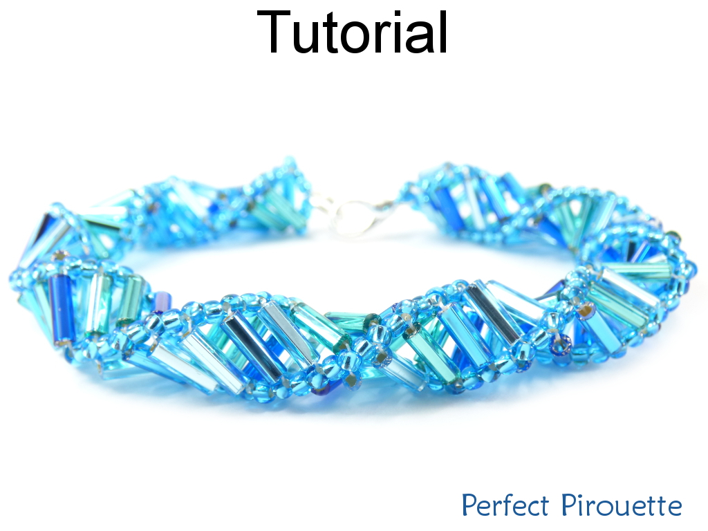 Beading Pattern Tutorial Bracelet Necklace - Russian Spiral Stitch - Simple Bead Patterns - Perfect Pirouette #17908