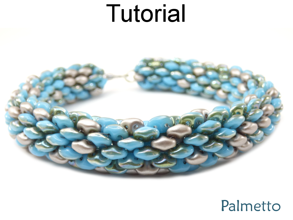 Beaded Bracelets and Necklaces Tutorials - SuperDuo Beading Patterns - Jewelry Making - Tubular - Simple Bead Patterns - Palmetto #230