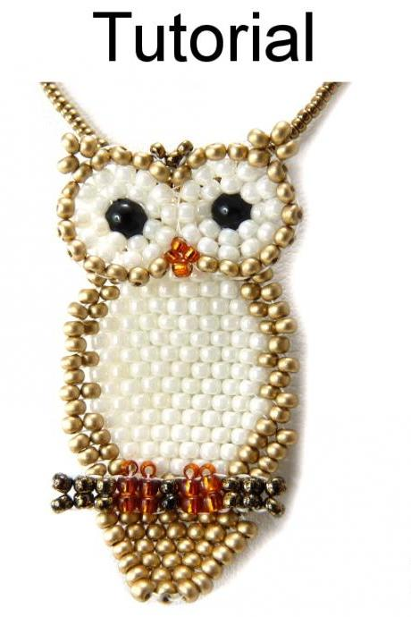 Beading Tutorial Pattern - Owl Necklace - Beaded Fall Autumn Jewelry - Simple Bead Patterns - Owl Necklace #15510