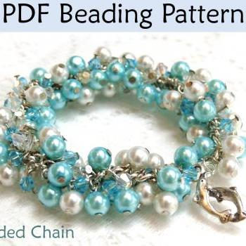 Beading Tutorial Pattern Bracelet Necklace - Wire Working - Beaded Chain #1319