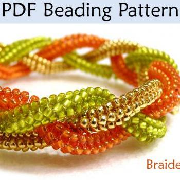Beading Tutorial Pattern Bracelet - Tubular Herringbone Stitch - Simple Bead Patterns - Braided #1394