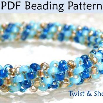 Beading Tutorial Pattern Bracelet Necklace - Tubular Peyote Stitch - Simple Bead Patterns - Twist & Shout #394