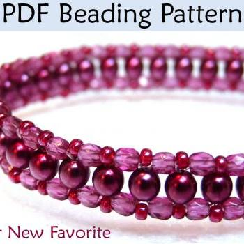 Beadweaving Tutorials, Choker Necklace Jewelry Beading Patterns, Beaded Necklaces, Seed Beads, Pearls, 3mm, 4mm, Tutorial, Pattern #452