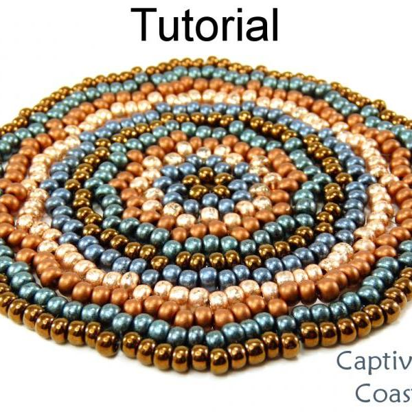 Beading Tutorial Pattern Coasters - Home Decor Gifts - Simple Bead Patterns - Captivating Coasters #711