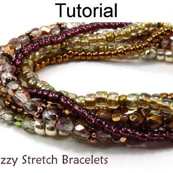 Beading Pattern Tutorial - Stretch Bracelets - Simple Bead Patterns - Snazzy Stretch Bracelets #5002