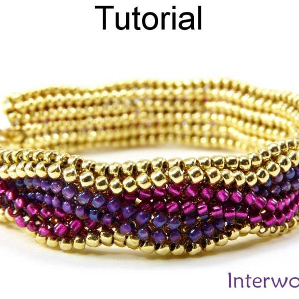 Beading Tutorial Bracelet - Herringbone Stitch - Simple Bead Patterns - Interwoven #5295