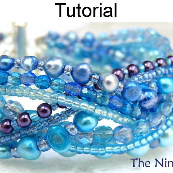 Bracelet Beading Tutorial Pattern - Multi-Strand - Simple Bead Patterns - The Nines #1500