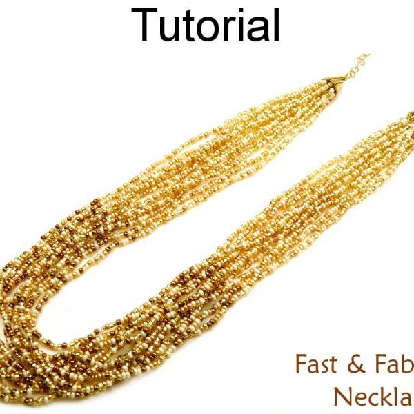 Beading Tutorial Pattern Multi-Strand Gradated Cone Necklace - Stringing - Simple Bead Patterns - Fast & Fabulous Necklace #14601