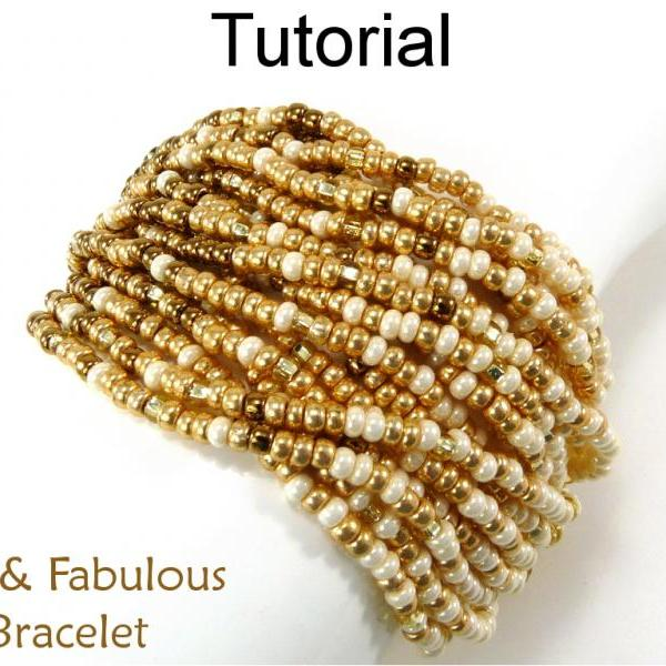 Beading Tutorial Pattern Multi-Strand Gradated Cone Bracelet - Stringing - Simple Bead Patterns - Fast & Fabulous Bracelet #14610